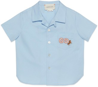 Gucci Baby cotton shirt with horse embroidery