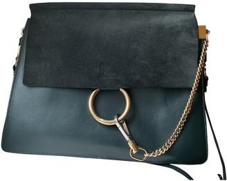 Chloé Faye Green Leather Handbags