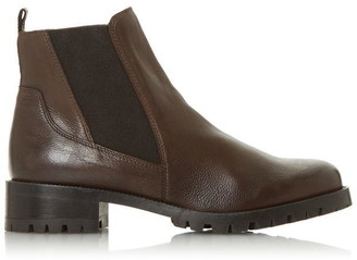 Dune London Powerful Mid Block Heel Ankle Boots