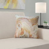 """Abstract Strips and Ovals on Agate Pillow East Urban Home Size: 16"""" x 16"""", Product Type: Throw Pillow"""