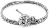 Anchor & Crew Classic Grey Lerwick Silver & Rope Bracelet