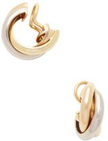 Cartier Vintage 18K Tri-Tone Gold Trinity Earrings