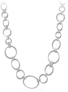 David Yurman Crossover Convertible Statement Necklace with Diamonds