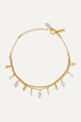 Chan Luu Gold-plated Swarovski Crystal Bracelet - one size