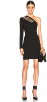 Versus One Shoulder Jersey Dress with Cutout