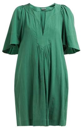Three Graces London Prudence Cotton-cheesecloth Dress - Womens - Green