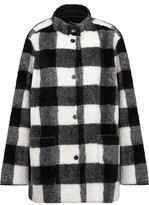 Opening Ceremony Culver Reversible Checked Faux Fur Coat