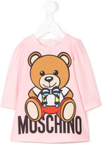 Moschino Kids - teddy print T-shirt dress - kids - Polyester/Spandex/Elastane - 12 mth