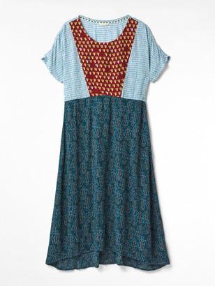 White Stuff Isla Mixed Print Dress