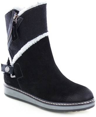 White Mountain Footwear Teague Suede Faux Fur Lined Boot