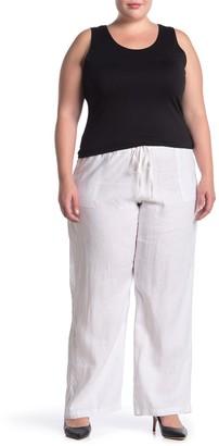 Allen Allen Pull-On Linen Pants (Plus Size)