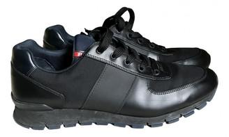 Prada Black Leather Trainers