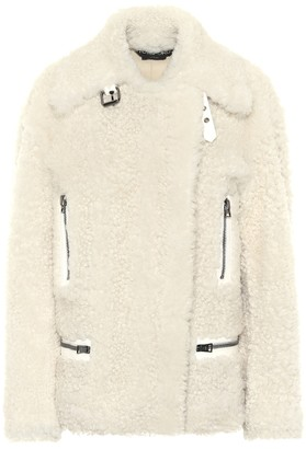 Tom Ford Leather-trimmed shearling jacket