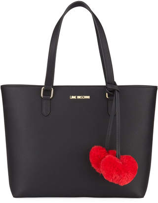 Love Moschino Borsa Faux-Leather Fuzzy Heart Bag