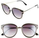 BP 53mm Metal Overlay Gradient Cat Eye Sunglasses
