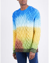 Kenzo Tie-dye Cable-knit Cotton-blend Jumper