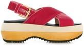 Marni crisscross platform sandals