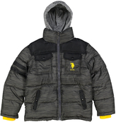 U.S. Polo Assn. Charcoal Heather Puffer Coat - Toddler & Boys