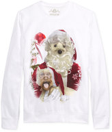 American Rag Men's Holiday Santa and Dog Faceswap Meme Sweatshirt, Only at Macy's