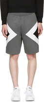 Neil Barrett Grey Tricolor Modernist Shorts