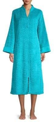 Miss Elaine Textured Full-Zip Robe