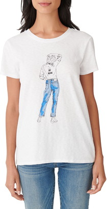 Lucky Brand Be Real Sketch Graphic Tee