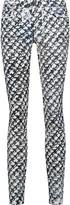 Proenza Schouler Mid-rise printed skinny jeans