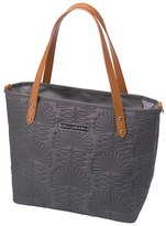 Petunia Pickle Bottom Infant 'Downtown Mini' Floral Embossed Diaper Tote - Black