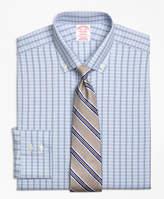 Brooks Brothers Non-Iron Milano Fit Alternating Framed Tattersall Dress Shirt