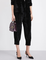Masscob Tapered cropped velvet trousers
