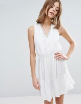 Vero Moda Skater Dress With Elasticated Waist And Lace Detail