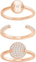 Swarovski Ginger Ring Set, White, Rose Gold Plating
