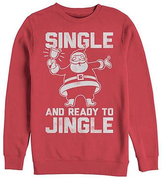 Fifth Sun Men's Sweatshirts and Hoodies RED - Red Santa 'Sing & Ready to Jingle' Crewneck Sweatshirt - Men