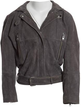 Dagmar Grey Suede Jacket for Women