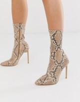 Simmi Shoes Simmi London Tiana snake effect stiletto boots