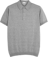 John Smedley Adrian Grey Fine-knit Cotton Polo Shirt