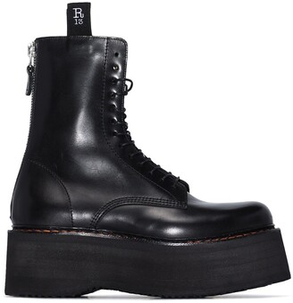 R 13 Double Stack leather boots