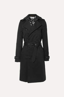 Saint Laurent Gabardine Trench Coat - Black