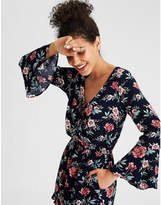 American Eagle AE Shirred Front Floral Printed Romper