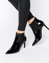 Office Angle Point Heeled Ankle Boots