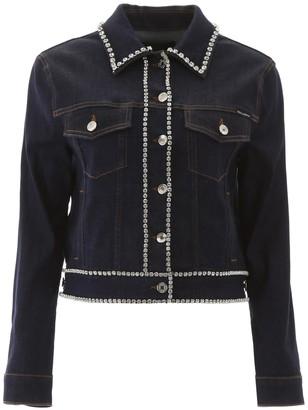 Dolce & Gabbana Denim Jacket With Crystals