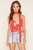Forever 21 FOREVER 21+ Floral Cami and Scarf Set