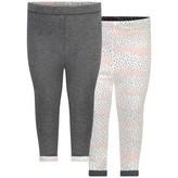 Ikks IKKSBaby Girls Grey & Ivory Reversible Leggings
