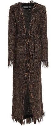 Balmain Fringed Metallic Boucle-knit Cardigan