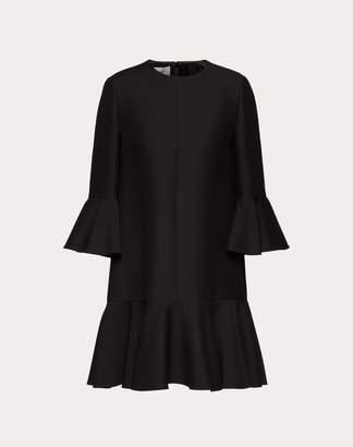 Valentino Crepe Couture Dress Women Ivory Virgin Wool 65%, Silk 35% 38