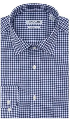 Haggar Men's Premium Comfort Classic-Fit Stretch Dress Shirt