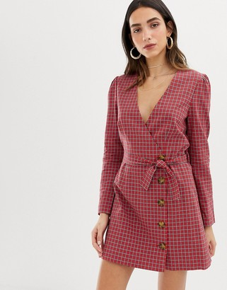 The East Order Jordana tartan mini dress
