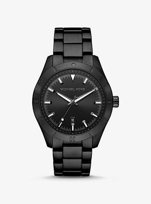 Michael Kors Oversized Layton Black-Tone Watch
