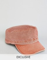 Reclaimed Vintage Washed Army Cap In Rust