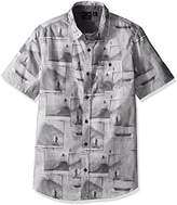 Burnside Men's Smashed Woven Shirt